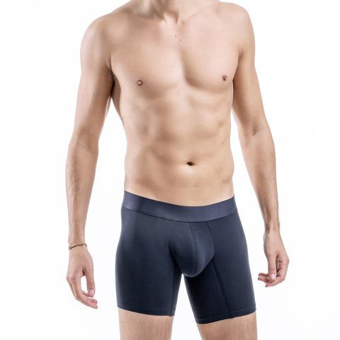 Comfyballs Men's Boxer Navy No-Show Cotton LONG