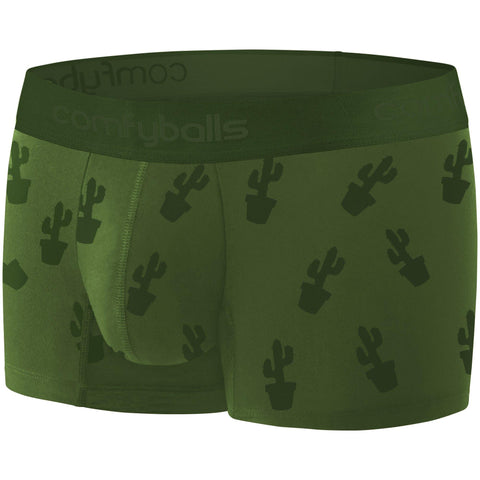 Comfyballs Men's Boxer Cactus Ghost Olive Wood REGULAR