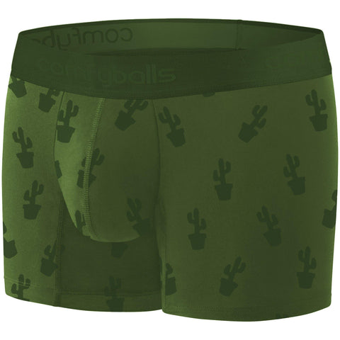 Comfyballs Men's Boxer Cactus Ghost Olive Wood LONG