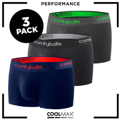 NEW - Comfyballs Men's Boxer Performance 3-pack REGULAR !
