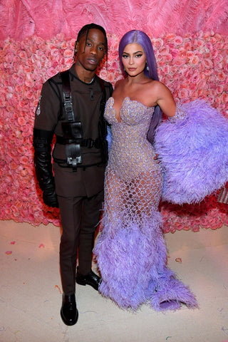 Kylie Jenner and Travis Scott in Formal Wear