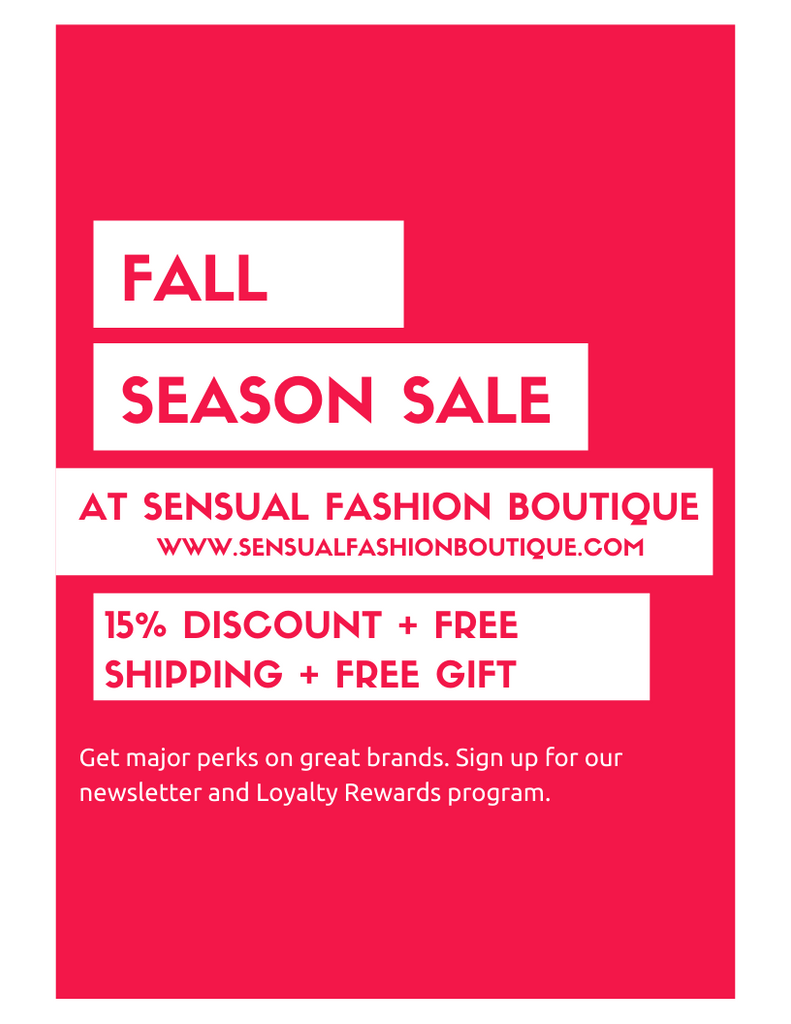 Fall Fashion Sale - Free Gifts + 15% Off + Free Shipping