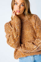 Knit Marled Pullover Sweater - Sensual Fashion Boutique
