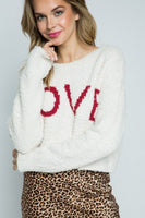 Furry Knit Love Cropped Sweater - Sensual Fashion Boutique