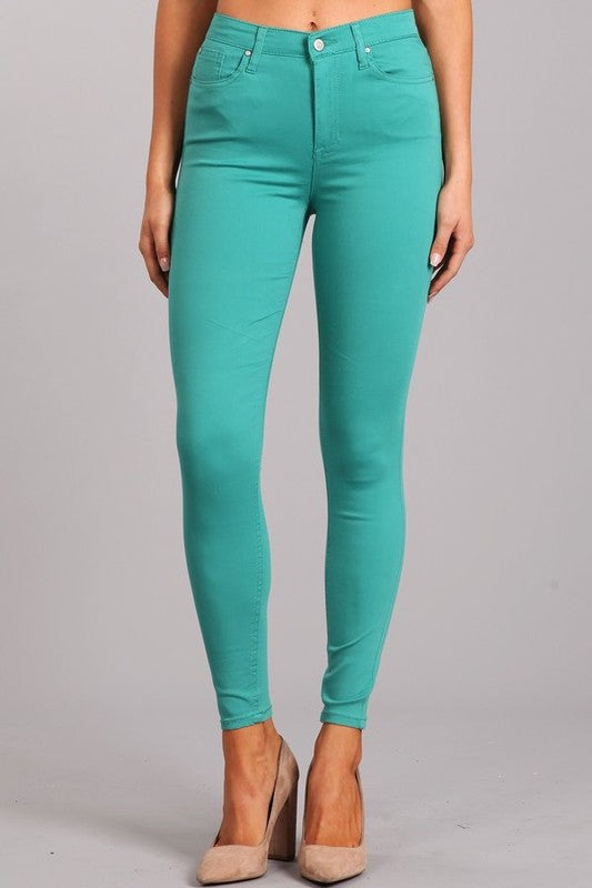 Celebrity Pink Spearmint High Rise Skinny Jeans - Sensual Fashion Boutique