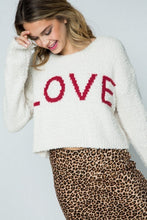 Load image into Gallery viewer, Furry Knit Love Cropped Sweater - Sensual Fashion Boutique