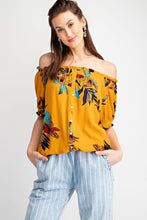 Load image into Gallery viewer, Easel Tropical Floral Print Crop Top - Sensual Fashion Boutique