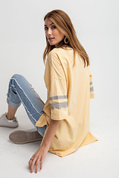 Easel Casual Athletic Hi Low Loose Tunic