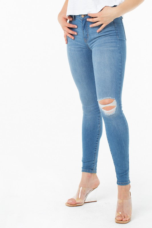 Celebrity Pink Mid Rise Skinny Jeans - Sensual Fashion Boutique