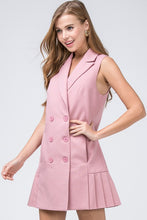 Load image into Gallery viewer, Dusty Rose Pleated Blazer Dress - Sensual Fashion Boutique