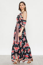 Load image into Gallery viewer, Flying Tomato Cold Shoulder Floral Print Maxi Dress - Sensual Fashion Boutique