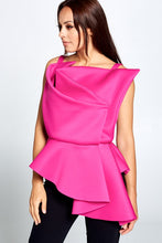Load image into Gallery viewer, Asymmetric Hem Folded Front Top - Sensual Fashion Boutique