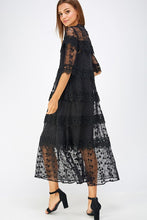Load image into Gallery viewer, Crochet Lace Tiered Long Dress - Sensual Fashion Boutique