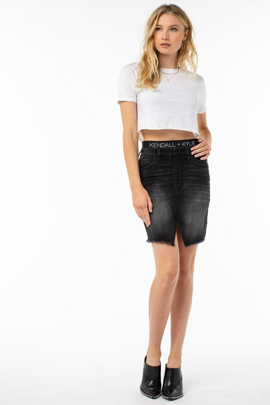 Kendall + Kylie Logo Denim Skirt - Sensual Fashion Boutique