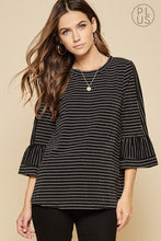 Load image into Gallery viewer, Plus Size Crepe Bell Sleeve Top - Sensual Fashion Boutique