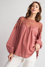 Load image into Gallery viewer, Easel Adella Long Sleeve Crochet Top - Sensual Fashion Boutique