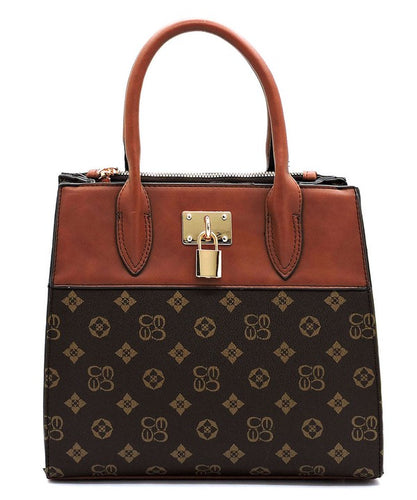 The Princess Monogrammed Padlock Satchel Handbag - Sensual Fashion Boutique