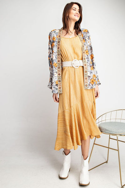 Easel Washed Print Maxi Dress