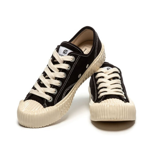Excelsior Canvas Street Fashion Sneakers Bolt Lo Vulcanized Black White - Sensual Fashion Boutique