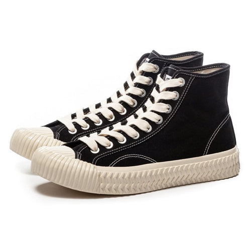 Excelsior Industrial Classic Bolt Hi Top Shoes Black Off White - Sensual Fashion Boutique