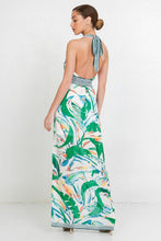 Load image into Gallery viewer, Jealous Tomato Tropical Print Maxi Halter Dress - Sensual Fashion Boutique