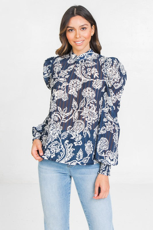 Flying Tomato Printed Shadow Top - Sensual Fashion Boutique