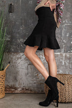 Load image into Gallery viewer, Easel Faux Suede Ruffle Bottom Flounce Skirt - Sensual Fashion Boutique
