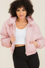 Load image into Gallery viewer, Sweet Habit Hooded Cropped Puffer Jackets - Sensual Fashion Boutique