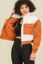 Load image into Gallery viewer, Sweet Habit Contrasted Crop Teddy Jackets - Sensual Fashion Boutique