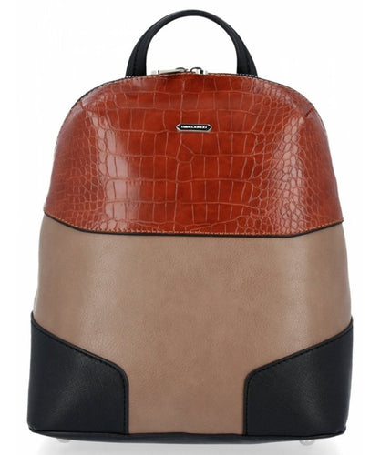 David Jones Colorblock Faux Alligator Backpack - Sensual Fashion Boutique