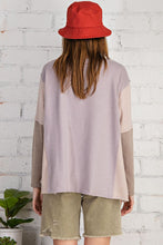 Load image into Gallery viewer, Easel Feeling Soft Long Sleeve Color Block Relaxed Fit Top - Sensual Fashion Boutique