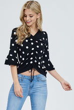 Load image into Gallery viewer, Ruched Front Polka Dot Top - Sensual Fashion Boutique