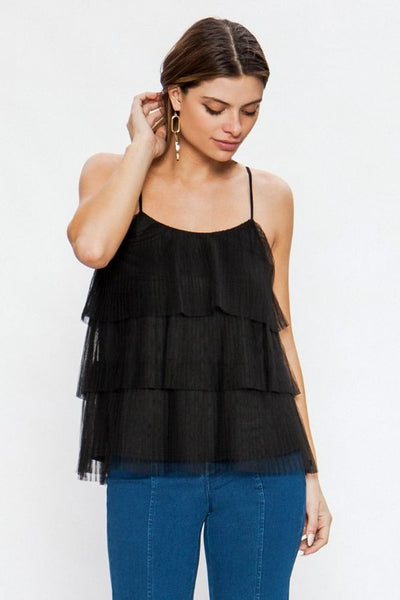Tiered Pleated Tank Top - Sensual Fashion Boutique