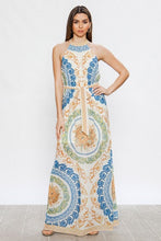 Load image into Gallery viewer, Jealous Tomato Baroque Print Halter Maxi Dress - Sensual Fashion Boutique