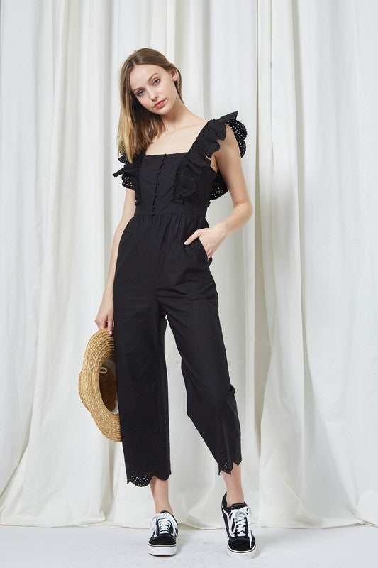Flutter Shoulder Jumpsuit - Sensual Fashion Boutique