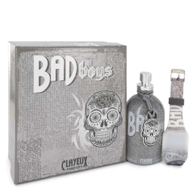 Bad For Boys Eau De Toilette Spray + Free LED Watch By Clayeux Parfums - Sensual Fashion Boutique