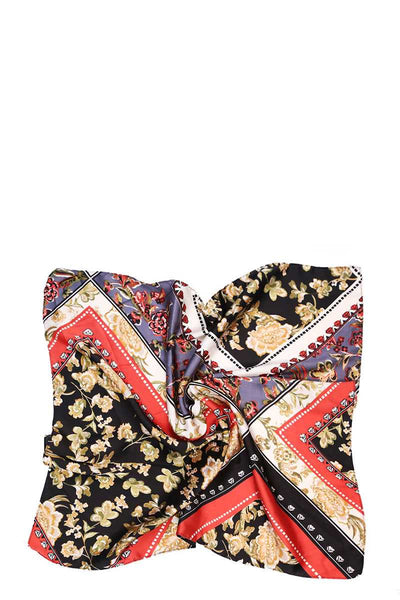 Mixed Pattern Silky Scarf - Sensual Fashion Boutique