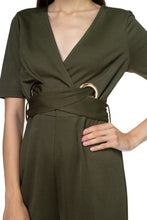 Load image into Gallery viewer, Grommets Belted Jumpsuit - Sensual Fashion Boutique