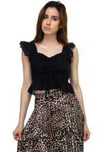 Load image into Gallery viewer, Embroidered Ruffle Cropped Top - Sensual Fashion Boutique