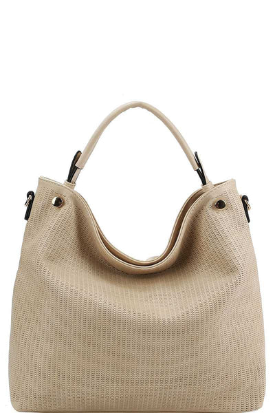 Stylish Modern Mesh Front Hobo Bag With Long Strap - Sensual Fashion Boutique