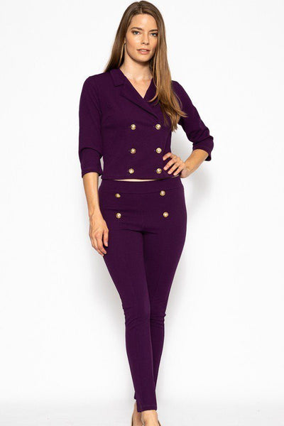 Classic Pant Suit Set - Sensual Fashion Boutique