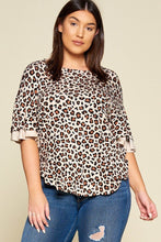 Load image into Gallery viewer, Plus Size Animal Print Swing Tunic Top With Contrast Color Block Bell Sleeves - Sensual Fashion Boutique