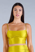 Load image into Gallery viewer, Sexy Spaghetti Strap Darted Under Bust Crop Top - Sensual Fashion Boutique