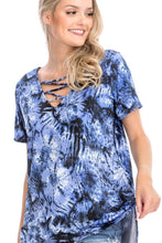 Load image into Gallery viewer, Tie Dye Print Short Sleeve Top - Sensual Fashion Boutique