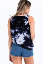 Load image into Gallery viewer, Tie-dye Knit Top Featured In A Scoop Neckline And Sleeveless - Sensual Fashion Boutique