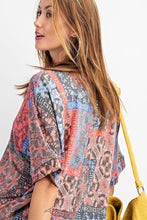 Load image into Gallery viewer, Tribal Printed Short Sleeve Terry Loose Fit Knit Top - Sensual Fashion Boutique