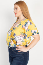 Load image into Gallery viewer, Floral Print Front Warp Bodysuit - Sensual Fashion Boutique