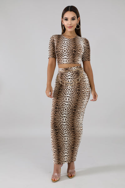 Fly As Can Be Leopard Skirt Set - Sensual Fashion Boutique