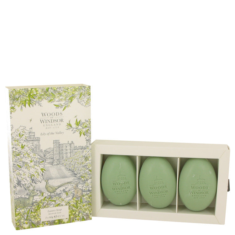 Lily Of The Valley (woods Of Windsor) Three 2.1 oz Luxury Soaps By Woods of Windsor - Sensual Fashion Boutique