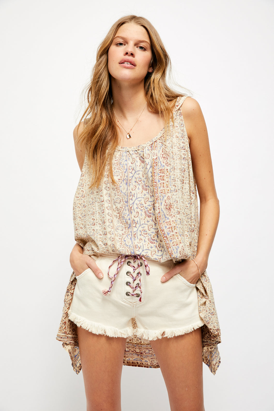 Free People Mess Around Tunic Neutral Combo - Sensual Fashion Boutique
